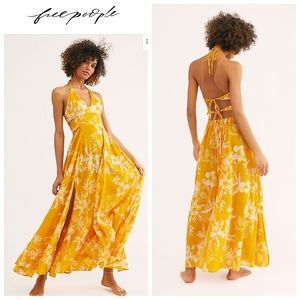 NWT-FP Lille Printed Maxi Dress- Hawaii Honey (M)